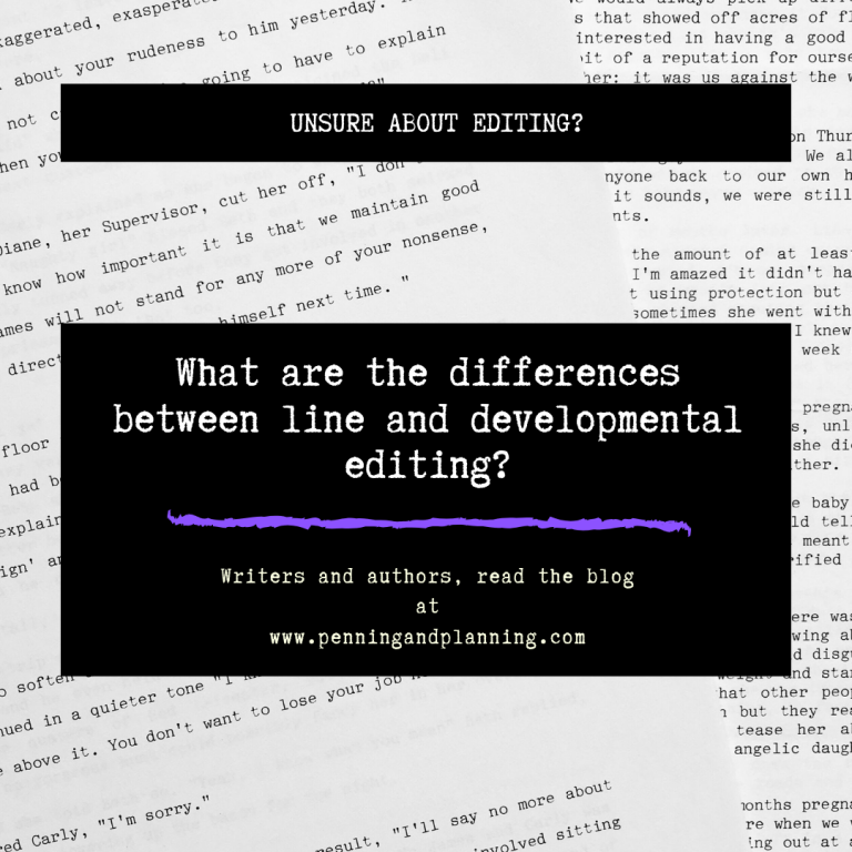 What are the differences between line and developmental editing?